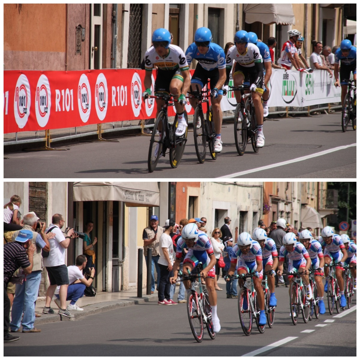 The Giro D'Italia cycle race in Italy