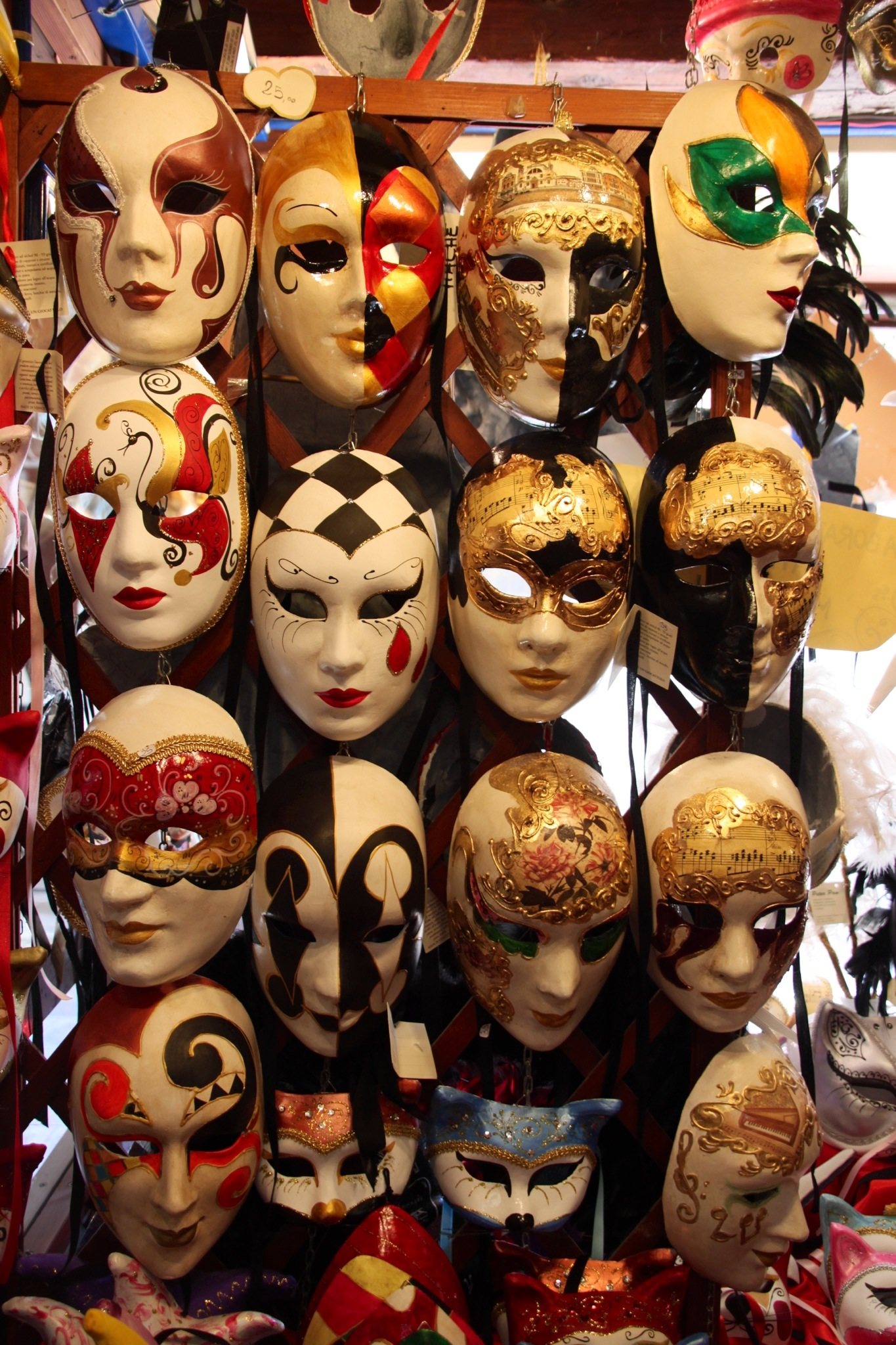 Traditional Carnival masks in Venice