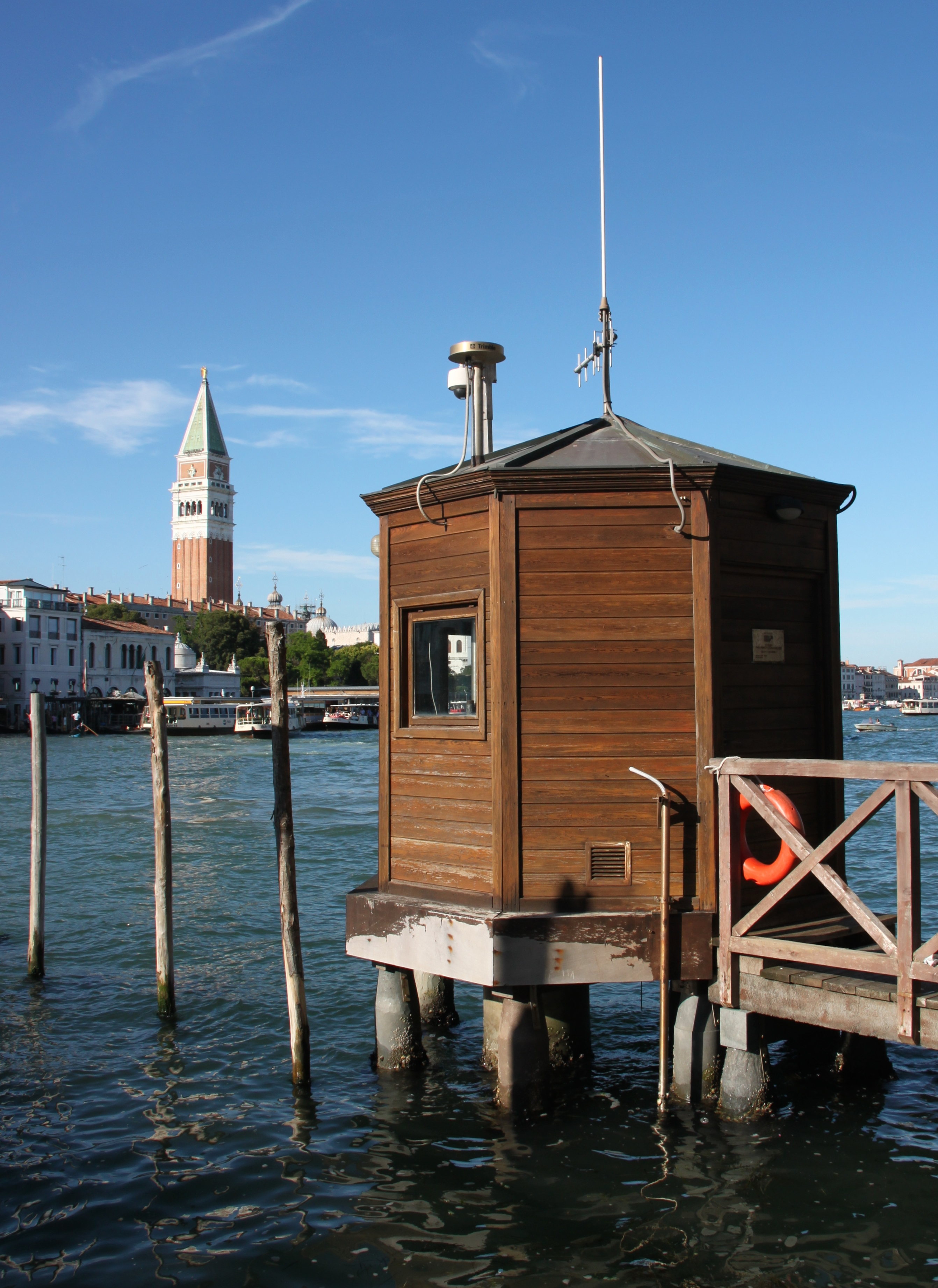 Hydrographic weather and tide station at Punta della Dogna, Venice, Italy