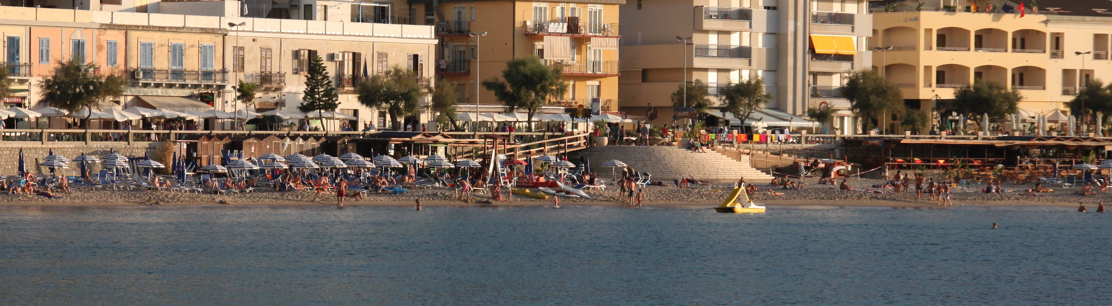 Beaches are packed with Italians over the Ferragosto August holidays
