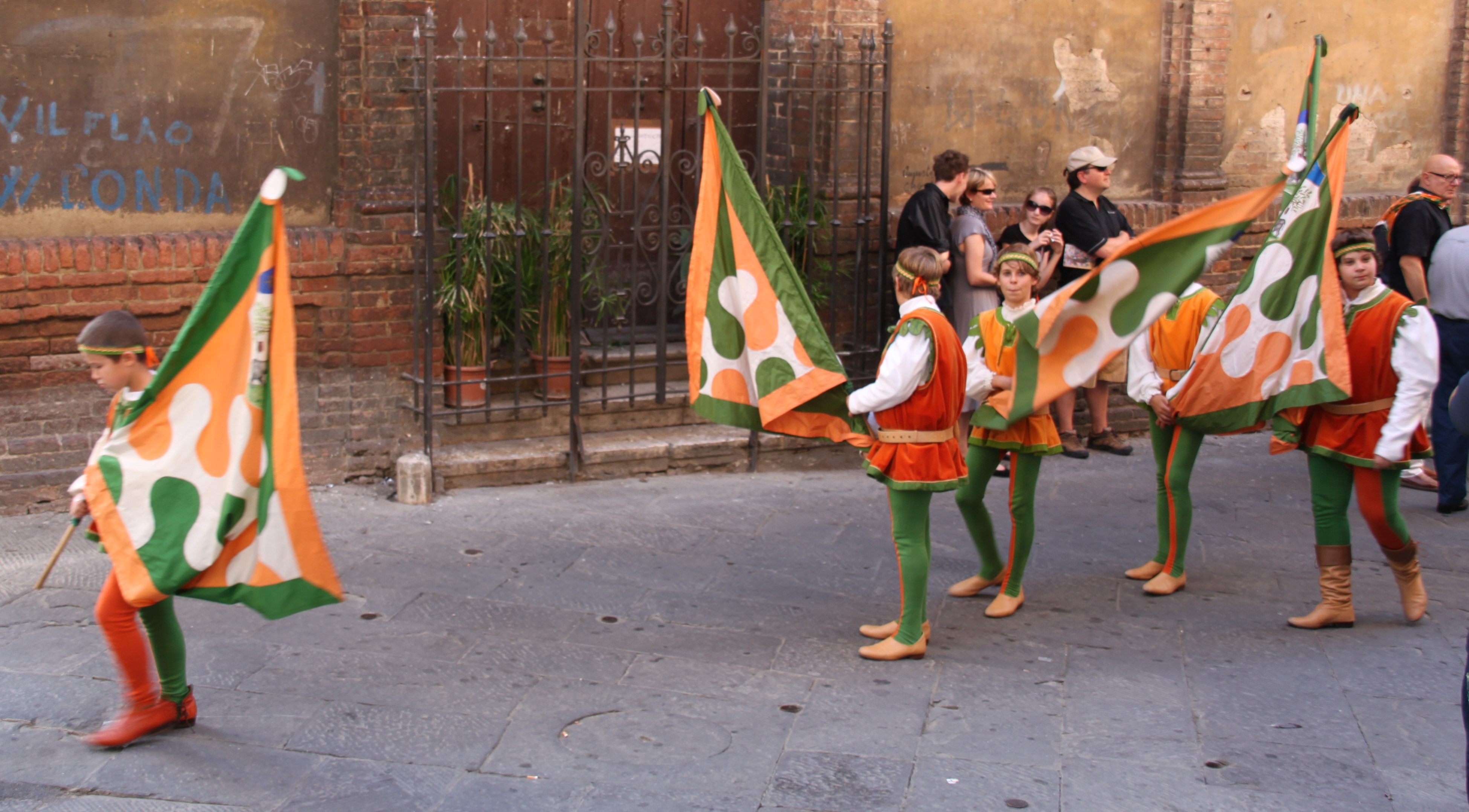 Parading through the streets of Siena