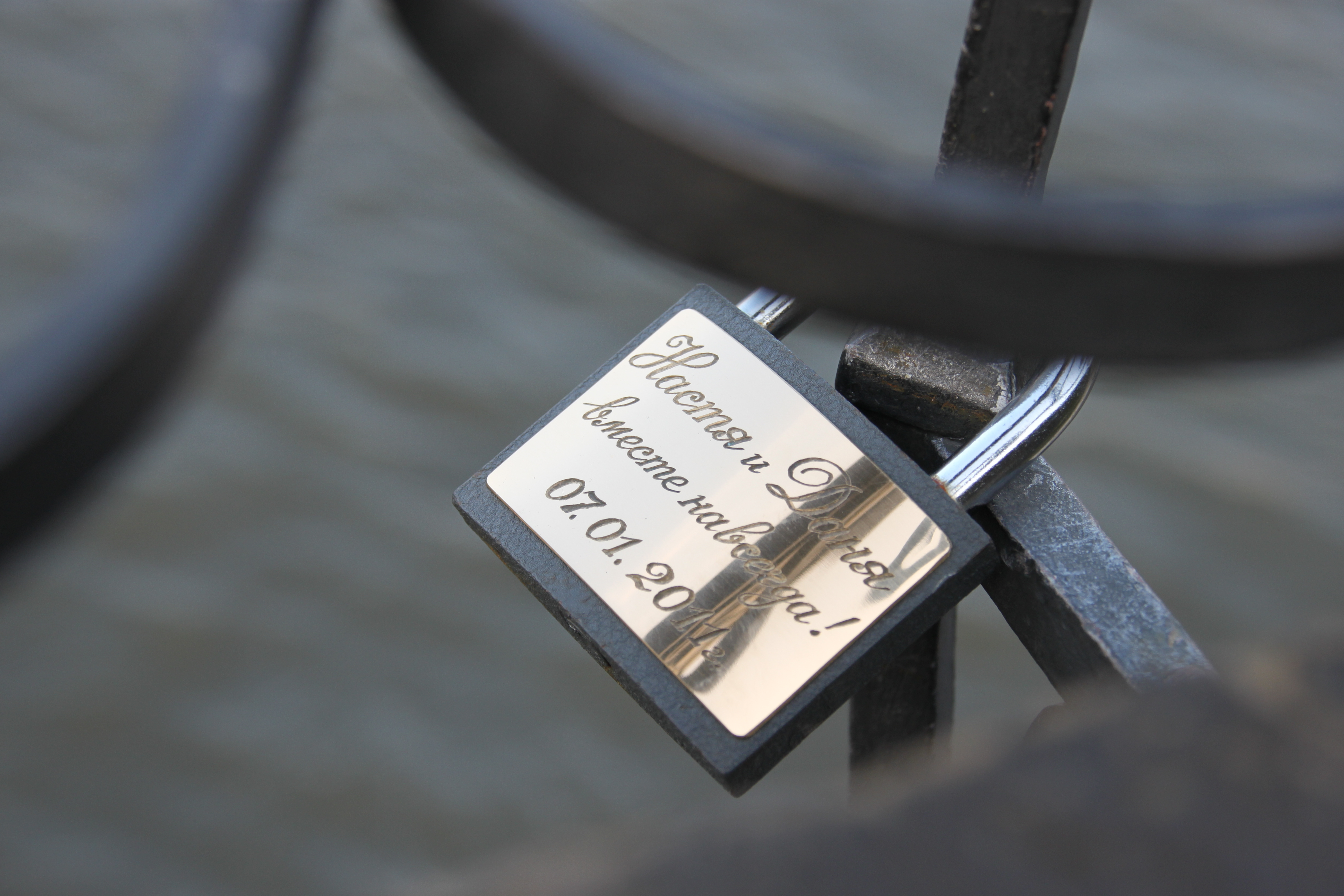 Lovelocks locked onto Prague's Charles Bridge