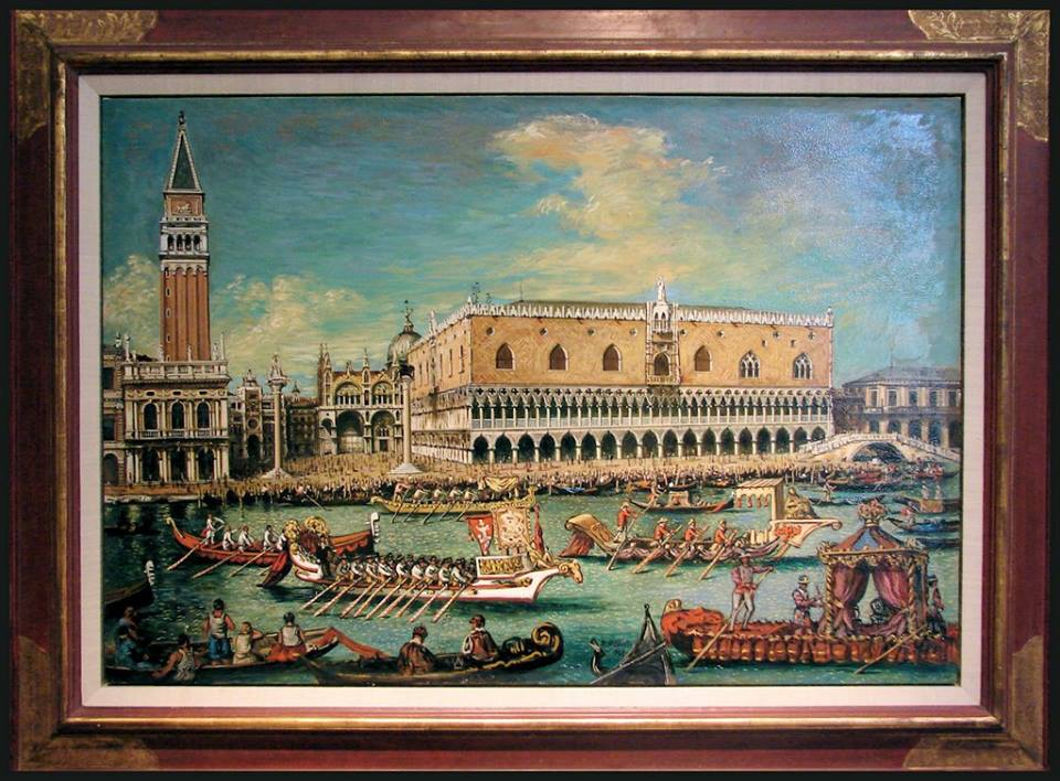"""Venice is like eating an entire box of chocolate liqueurs in one go."" Truman Capote Regatta Veneziana by Giorgio De Chirico (1888 – 1978)"