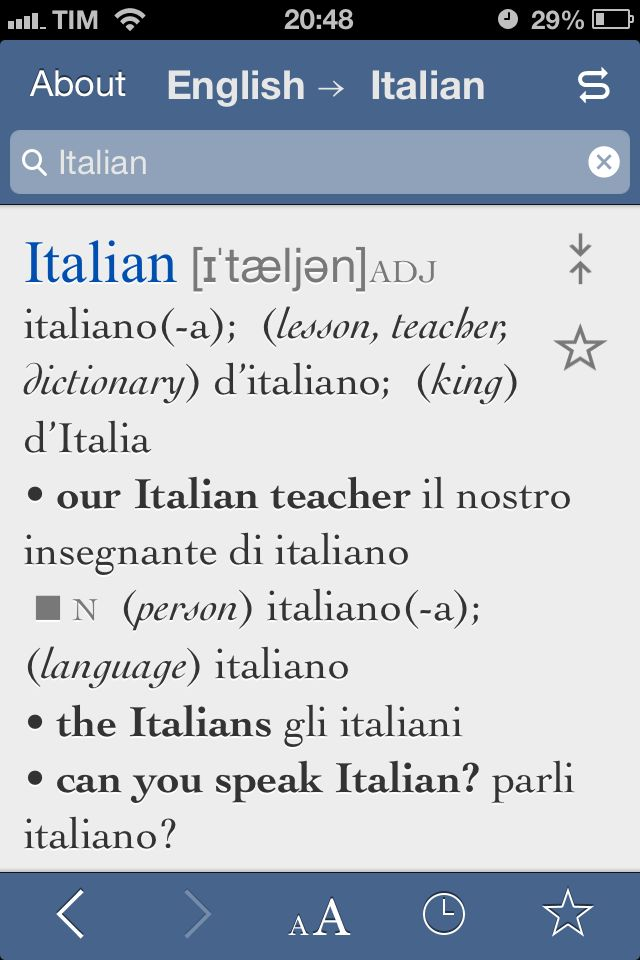 Please can you help me cos I don't speak a word of Italian?!