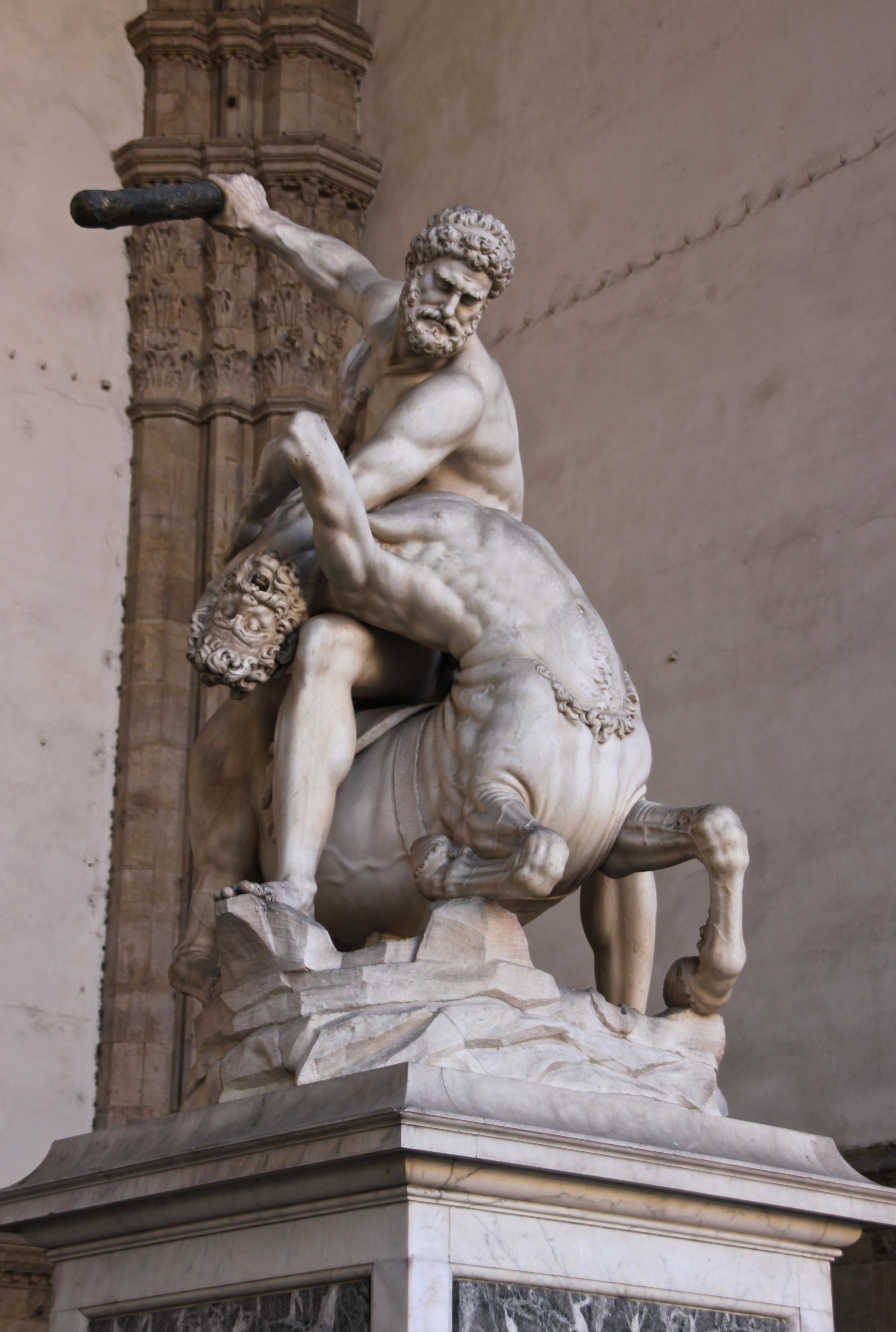 Another of Giambologna's statues in the Loggia