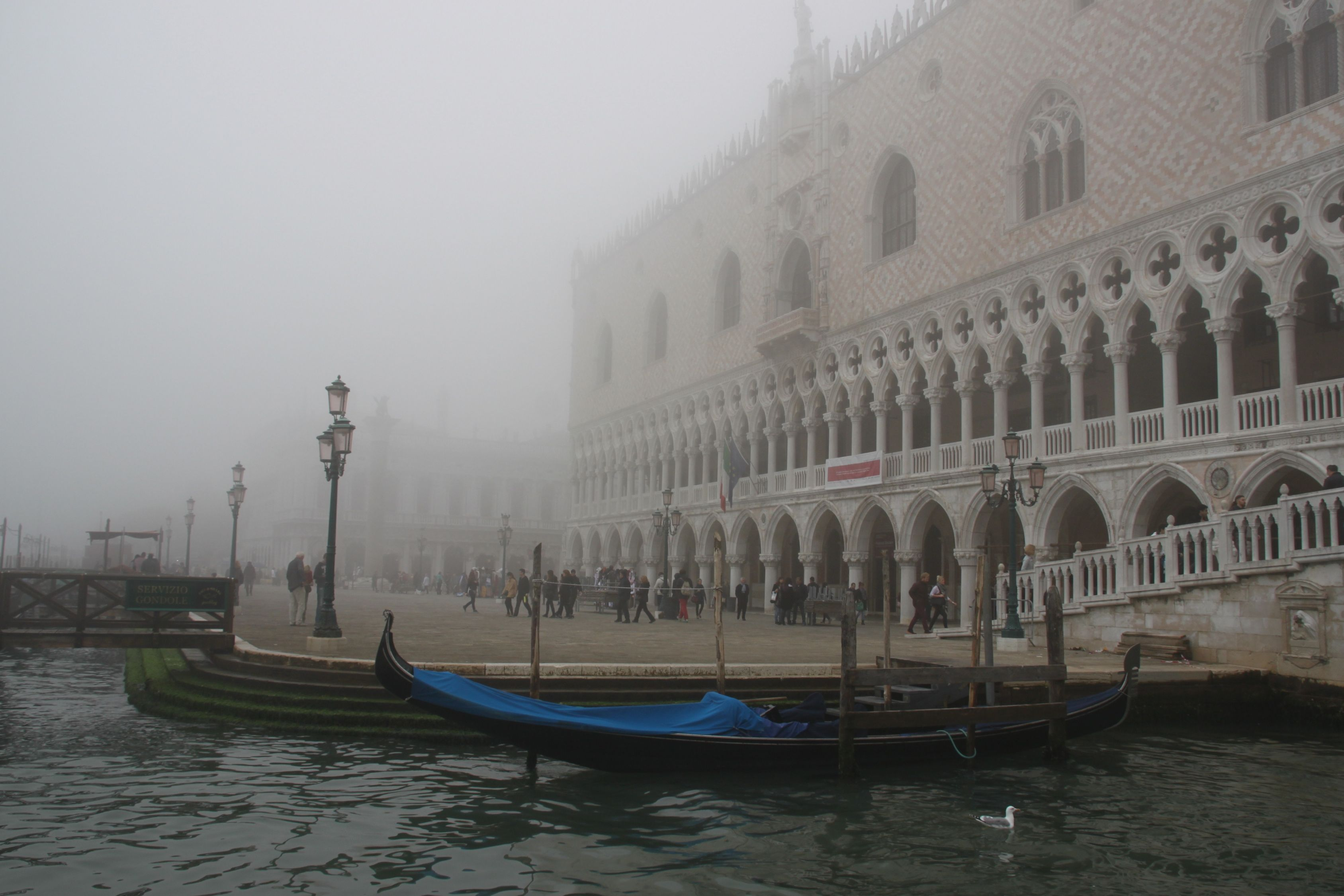 The Doge's Palace dissolves into the fog