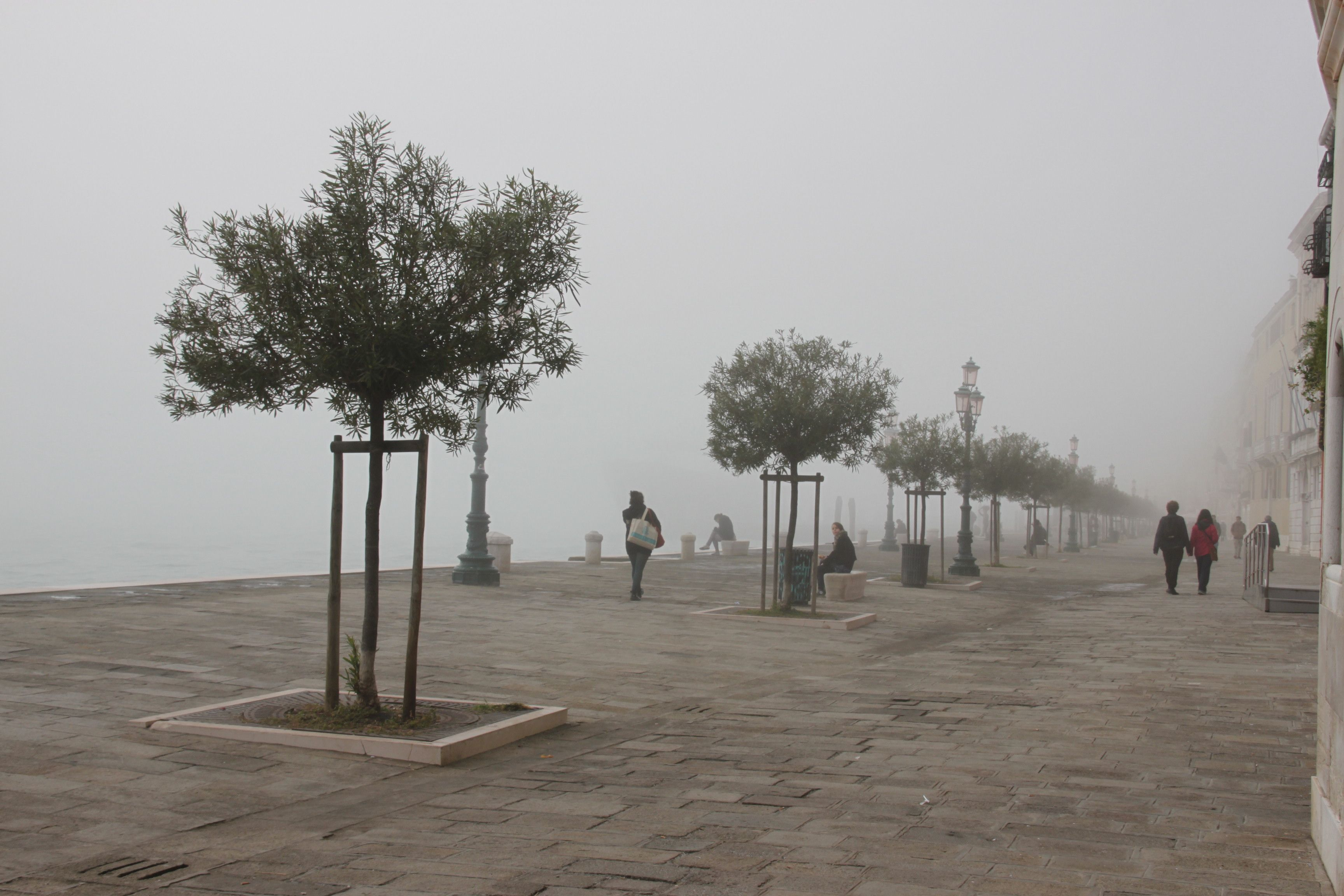 Giudecca island has completely disappeared from view from the Zattere