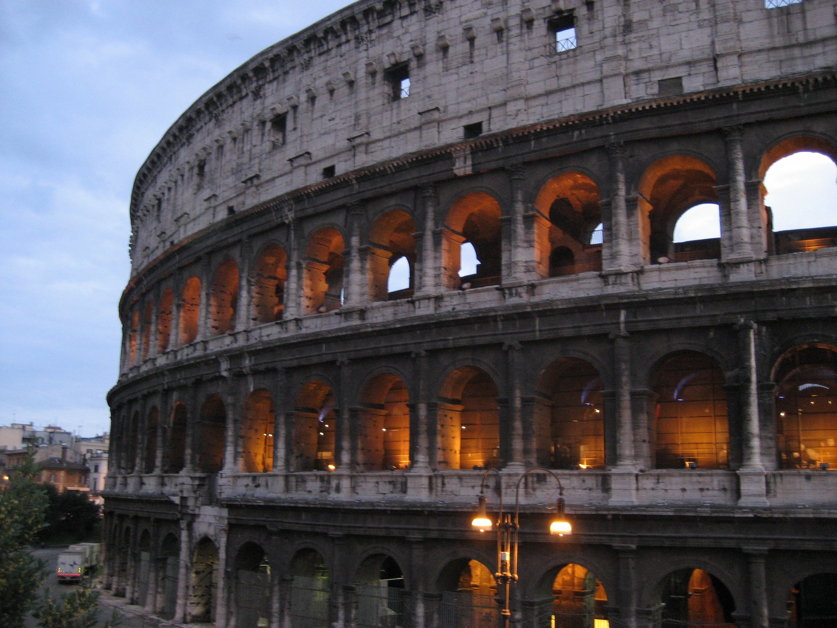 The Colosseum in Rome, opened in 80AD