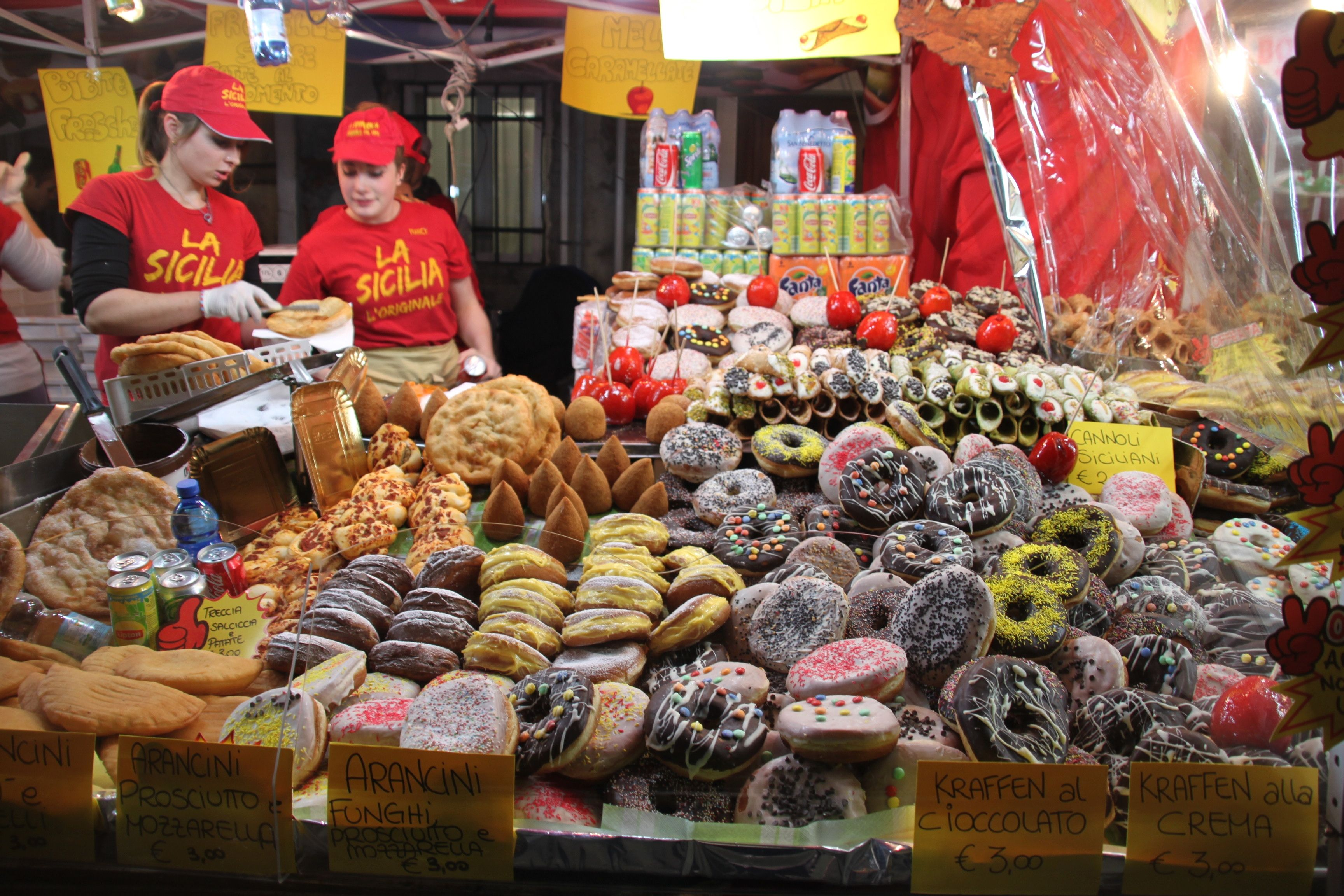 Pastries for the sweet toothed at the Festa della Madonna della Salute!