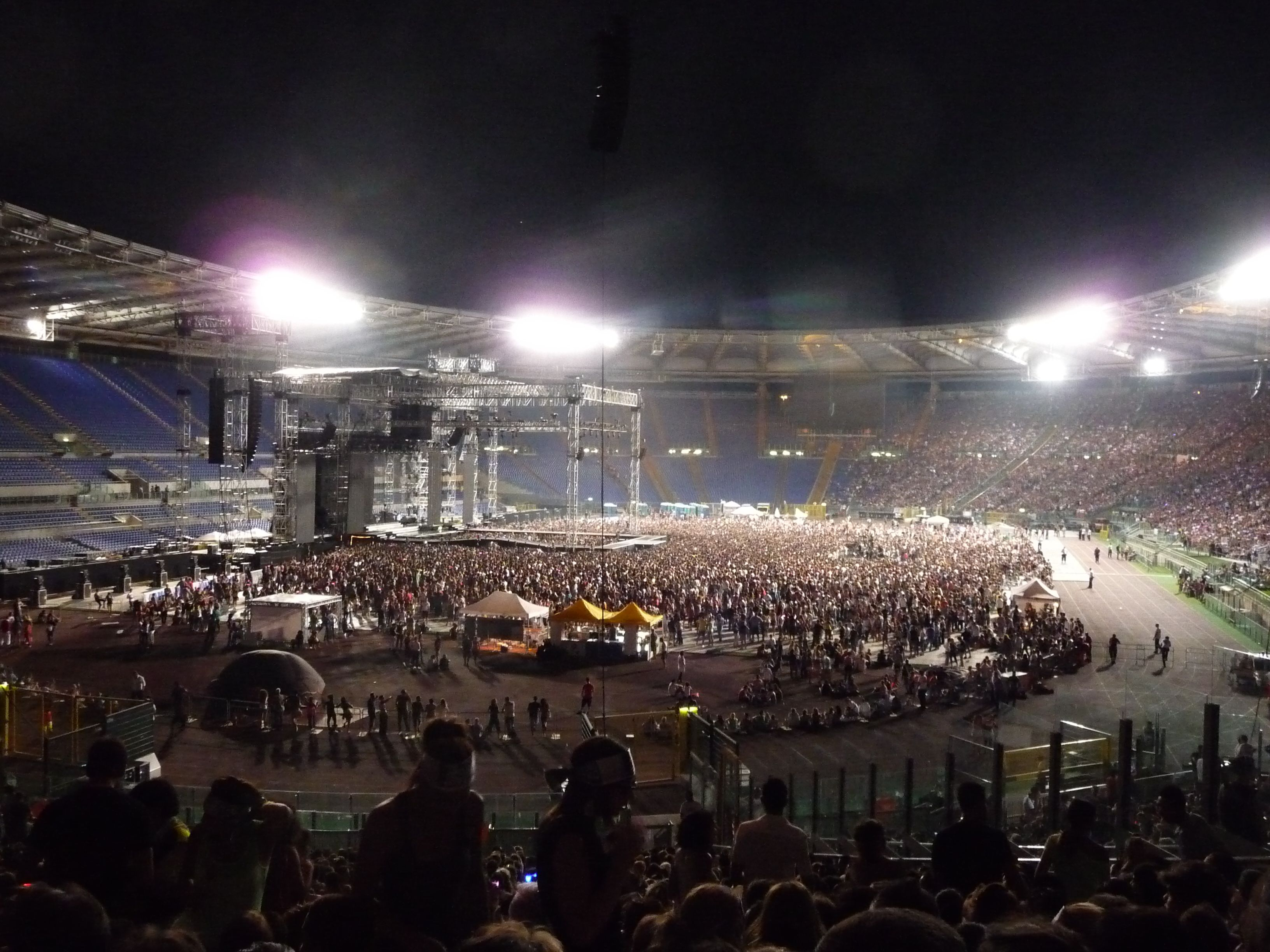 Stadio Olimpico set up for a music concert