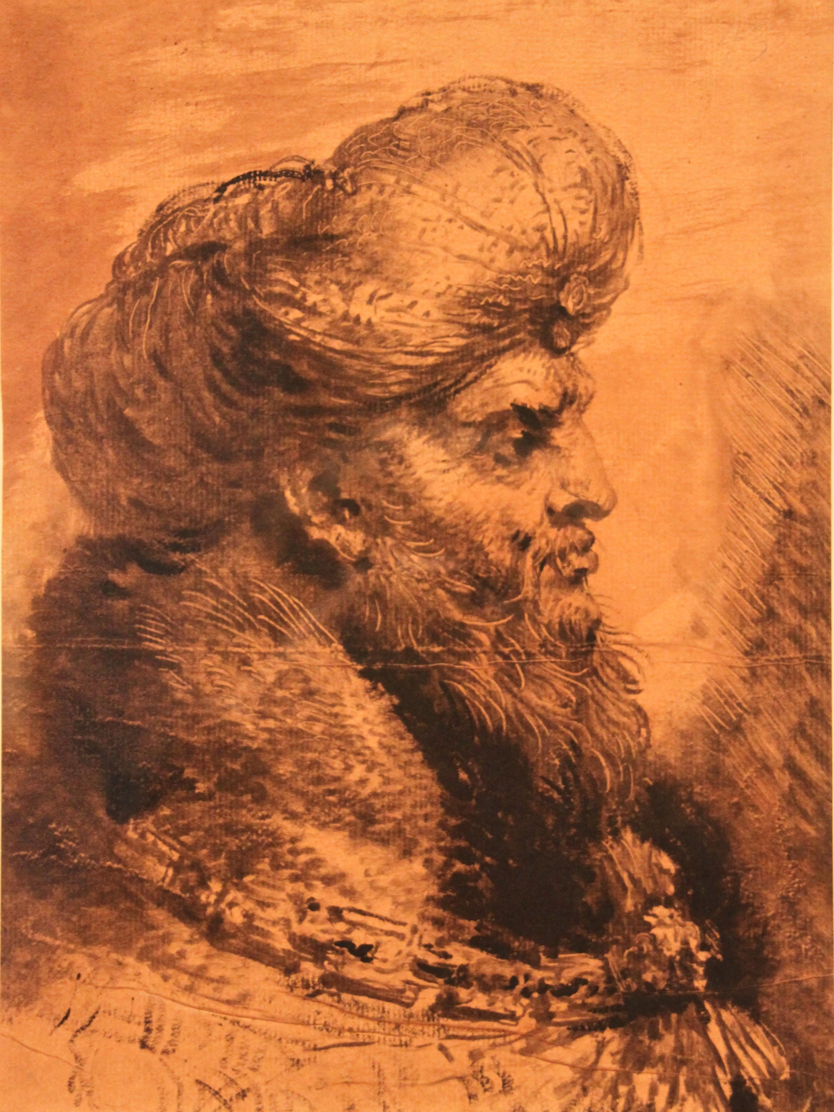 The head of an Oriental man
