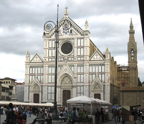 """When I walk up the piazza of Santa Croce I feel as if it were not a Florentine nor an European church but a church built by and for the human race."" —Ralph Waldo Emerson"