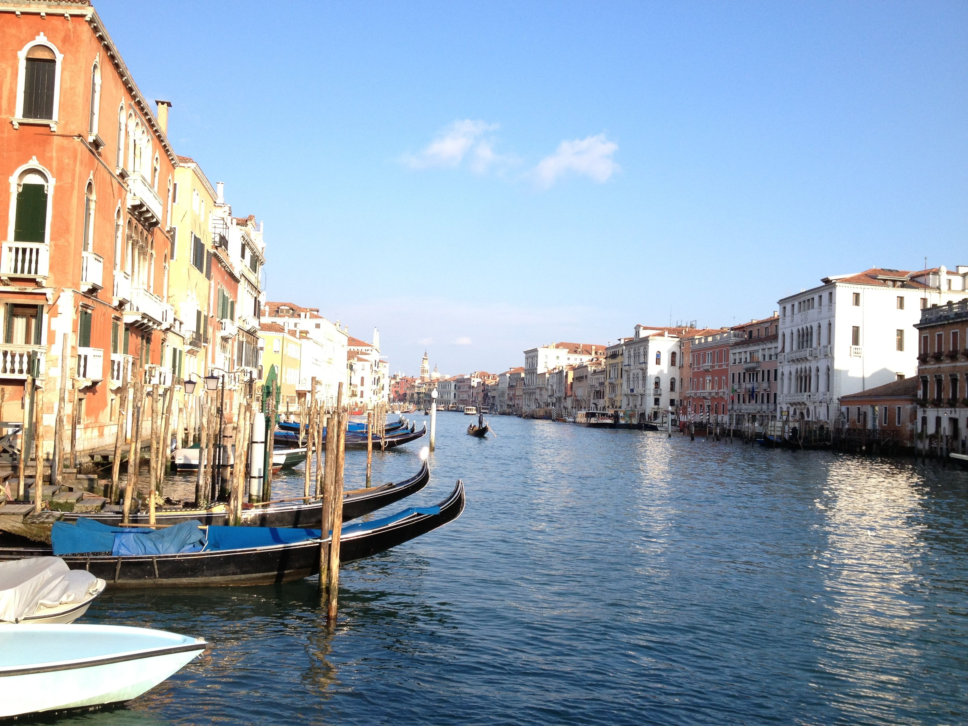 Blue skies in Venice welcome in Spring......we hope!