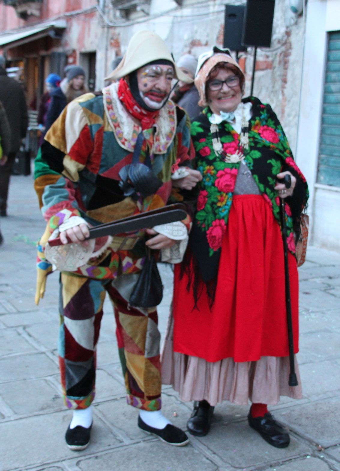 Locals dress up as characters from the Commedia dell'Arte