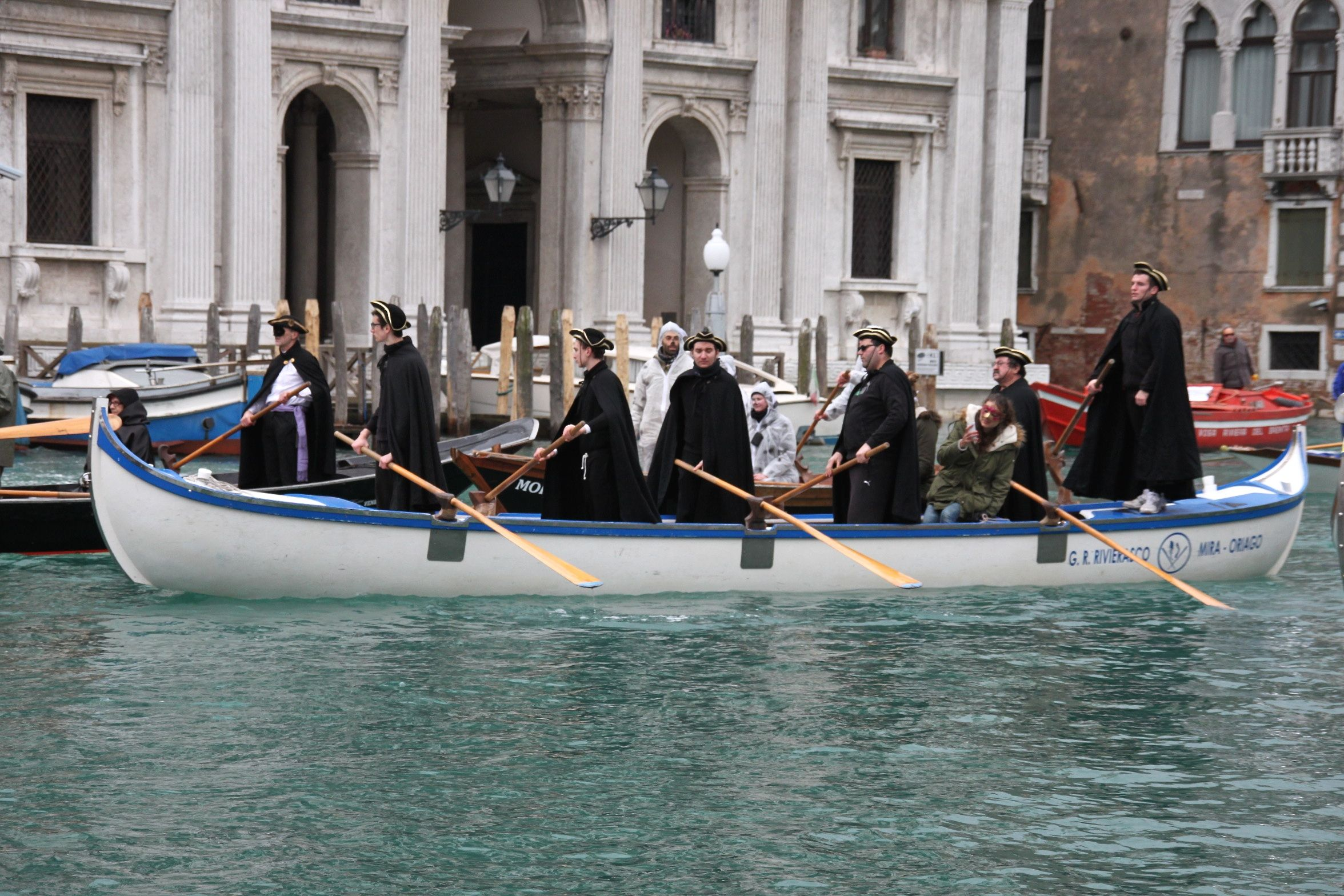 Venice Carnival Water Parade - Row, row, row your boat, gently down the Grand Canal!