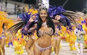 Rio de Janeiro Mardi Gras is world famous for its samba dancing and extravagant costumes