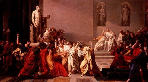 The Death of Caesar by Italian painter, Vincenzo Camuccini (1771-1844)