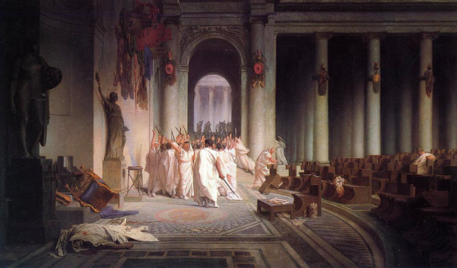 The Death of Caesar by Jean-Léon Gérôme (1824-1904)
