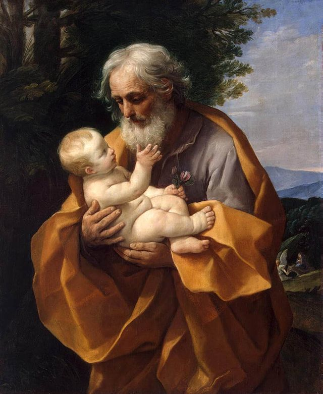 St Joseph with the Infant Jesus by Guido Reni (1575 – 1642) Photo credit : Wikipedia