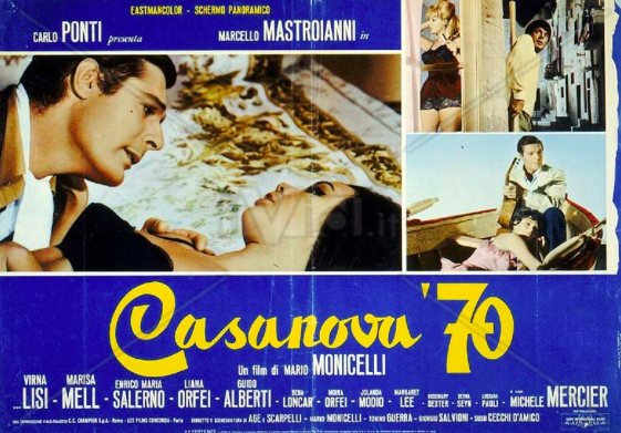 Poster for Marcello Mastroianni's Casanova 70