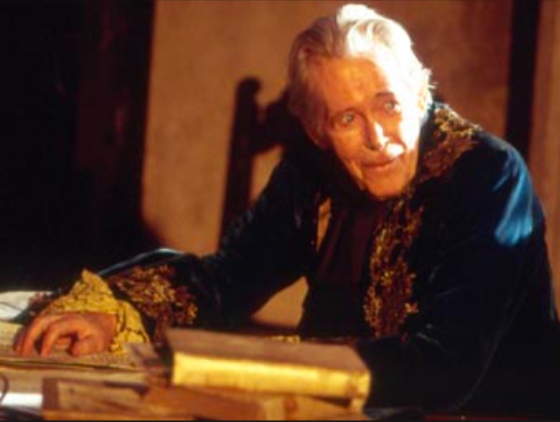Silverscreen legend Peter O'Toole plays Casanova as a silver fox