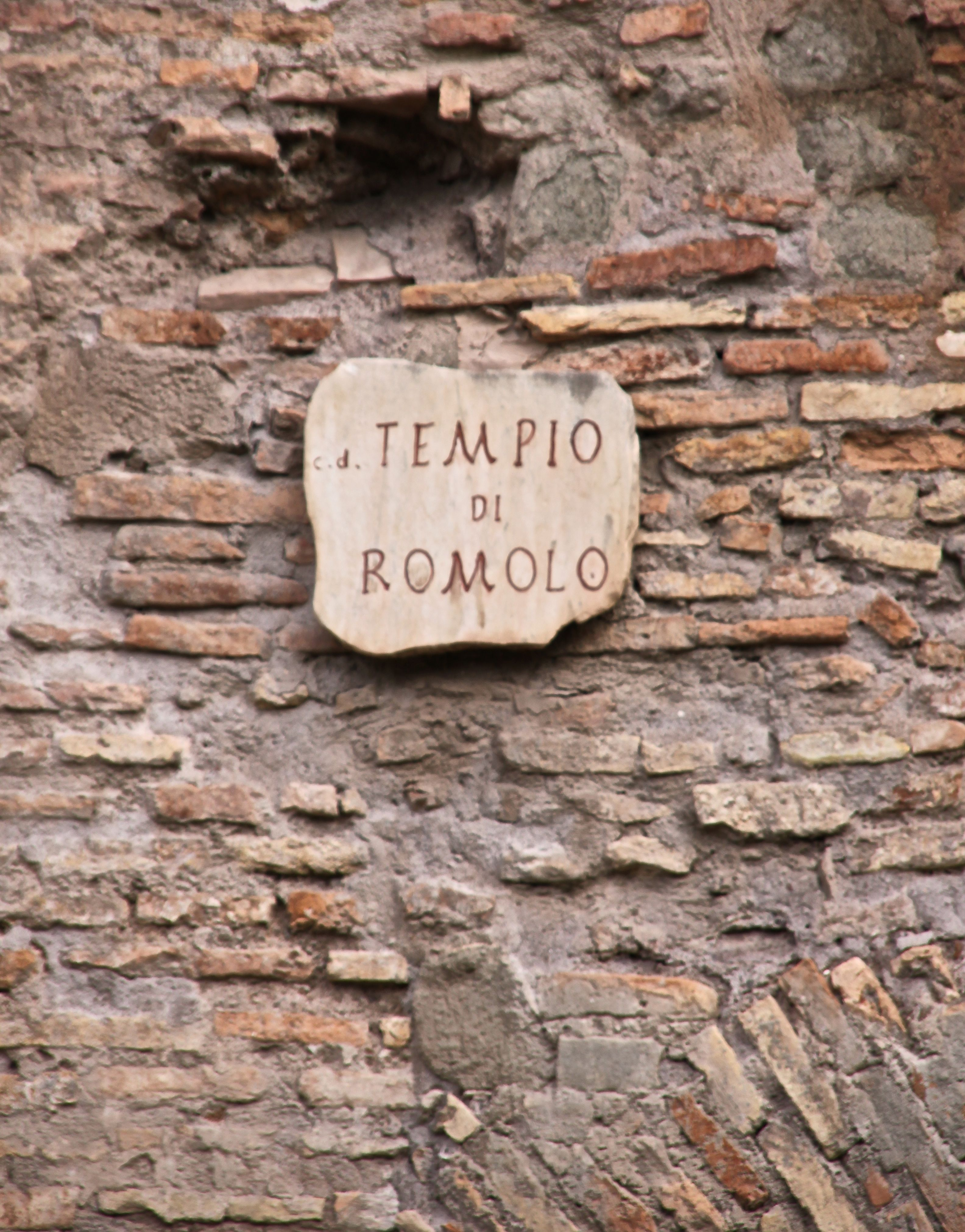 The Temple of Romulus in the Forum, central Rome
