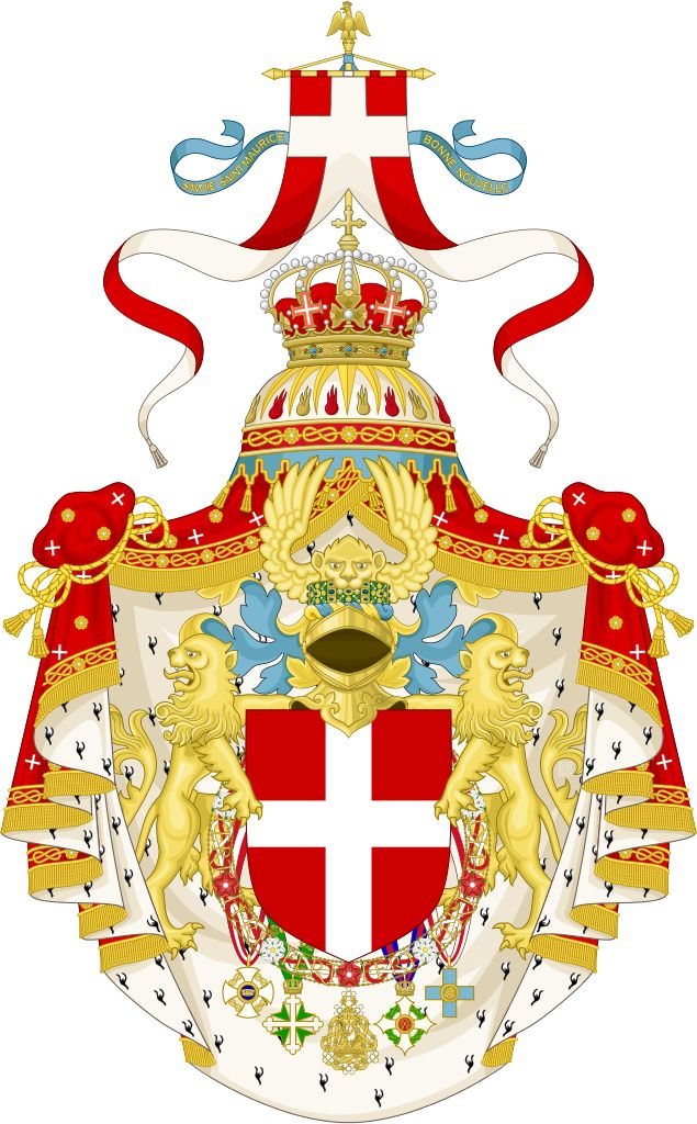 Official coat of arms of the House of Savoy