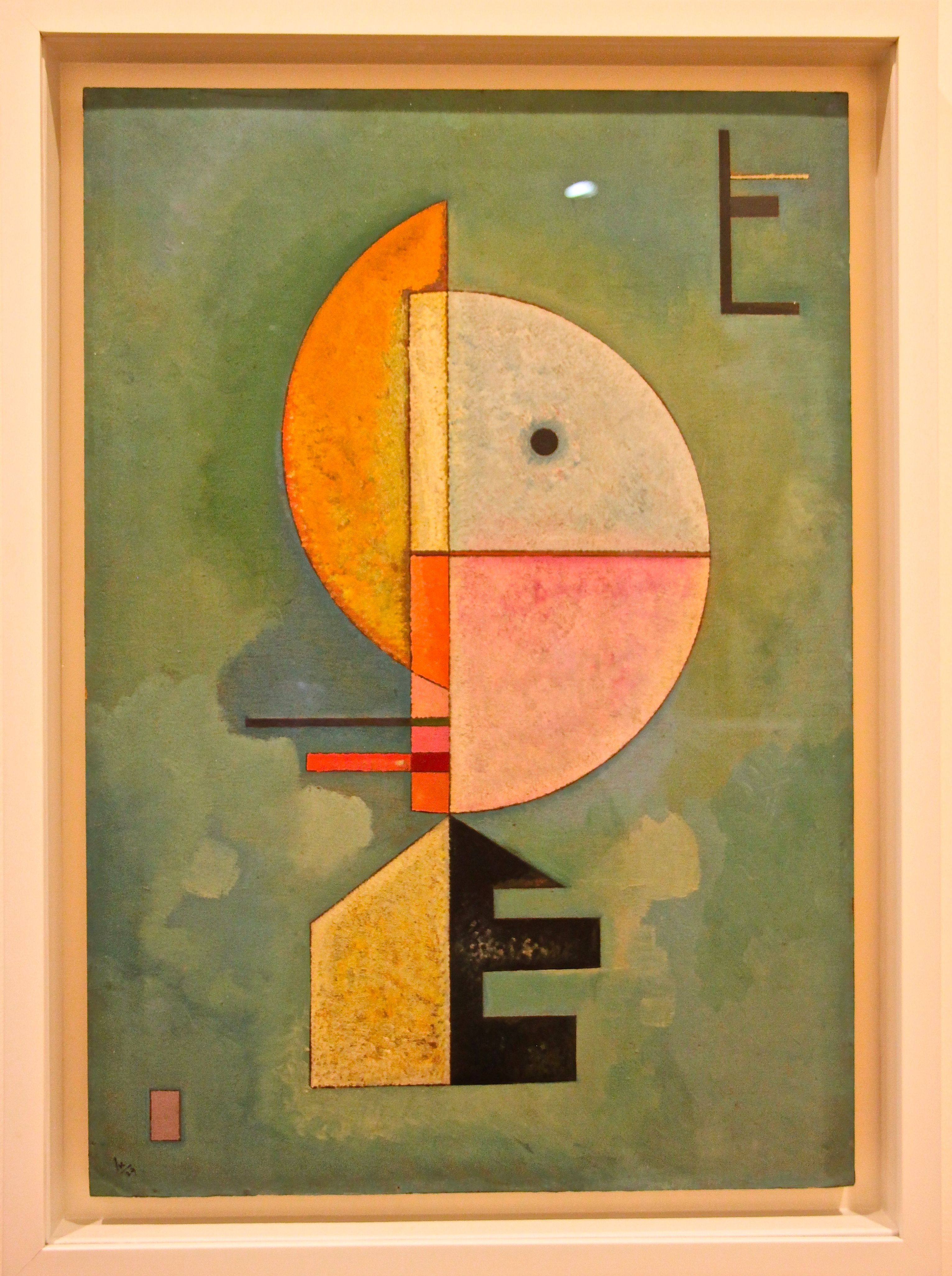 Painting by Russian artist Wassily Wassilyevich Kandinsky who used colour and geometrical shapes to create the first vividly abstract paintings. Peggy Guggenheim Museum, Venice