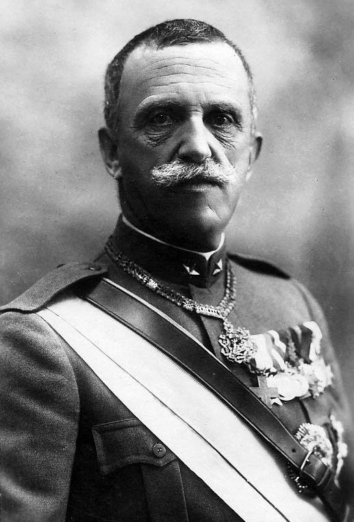 Photographic portrait of King Vittorio Emmanuele III of Italy in 1919