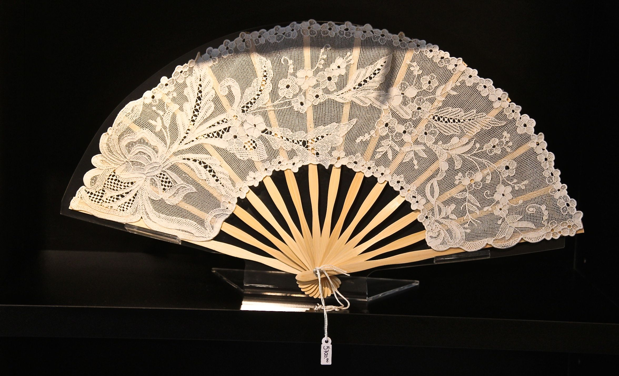 Photo of a Burano lace fan from Venice