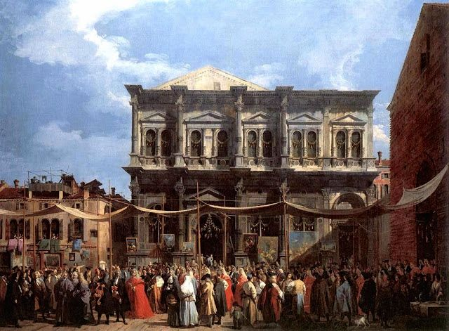 Painting of Venice, The Feast Day of Saint Roch by Canaletto (1697 – 1768)