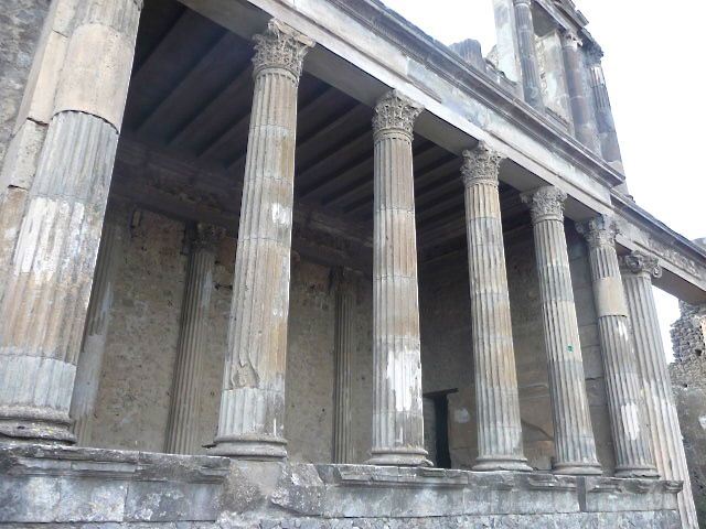 An ancient portico at the Roman city of Pompeii