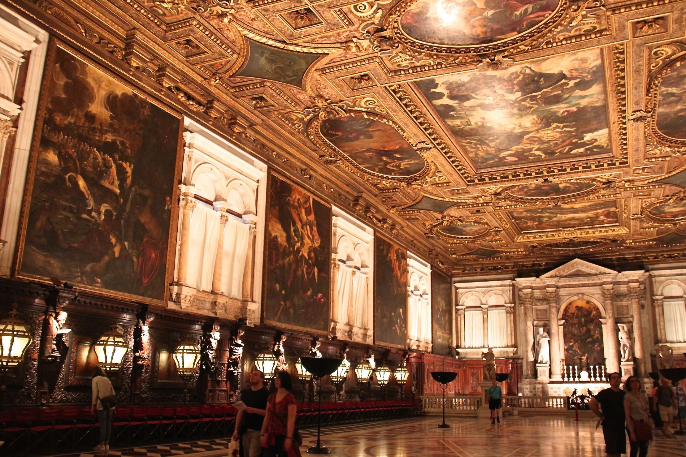 Tintoretto dedicated himself to painting the Scuola Grande di San Rocco - the result is stunning as you can see!
