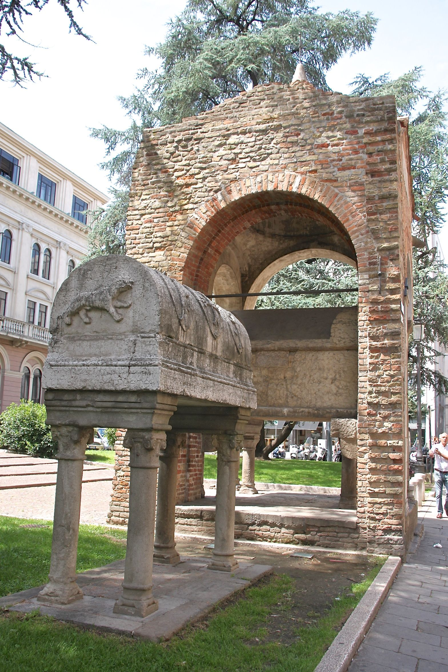 Trojan Prince Antenor's stone sarcophagus and final resting place in Padua