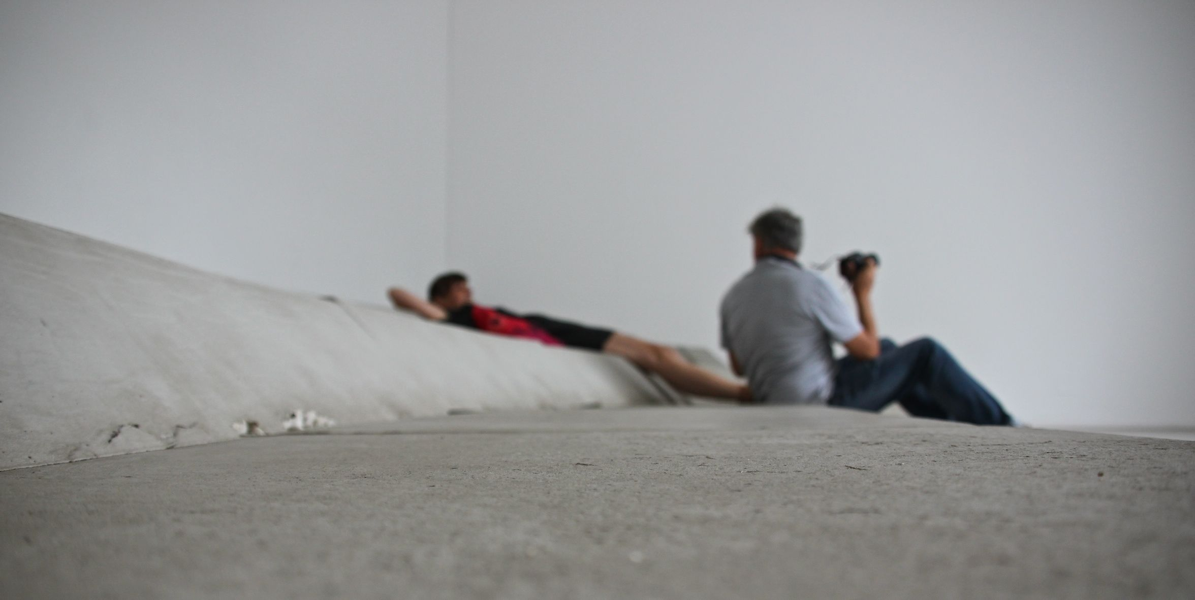 After a long hot afternoon browsing Venice Biennale's modern art its great to have a soothing lie down in the French pavilion!