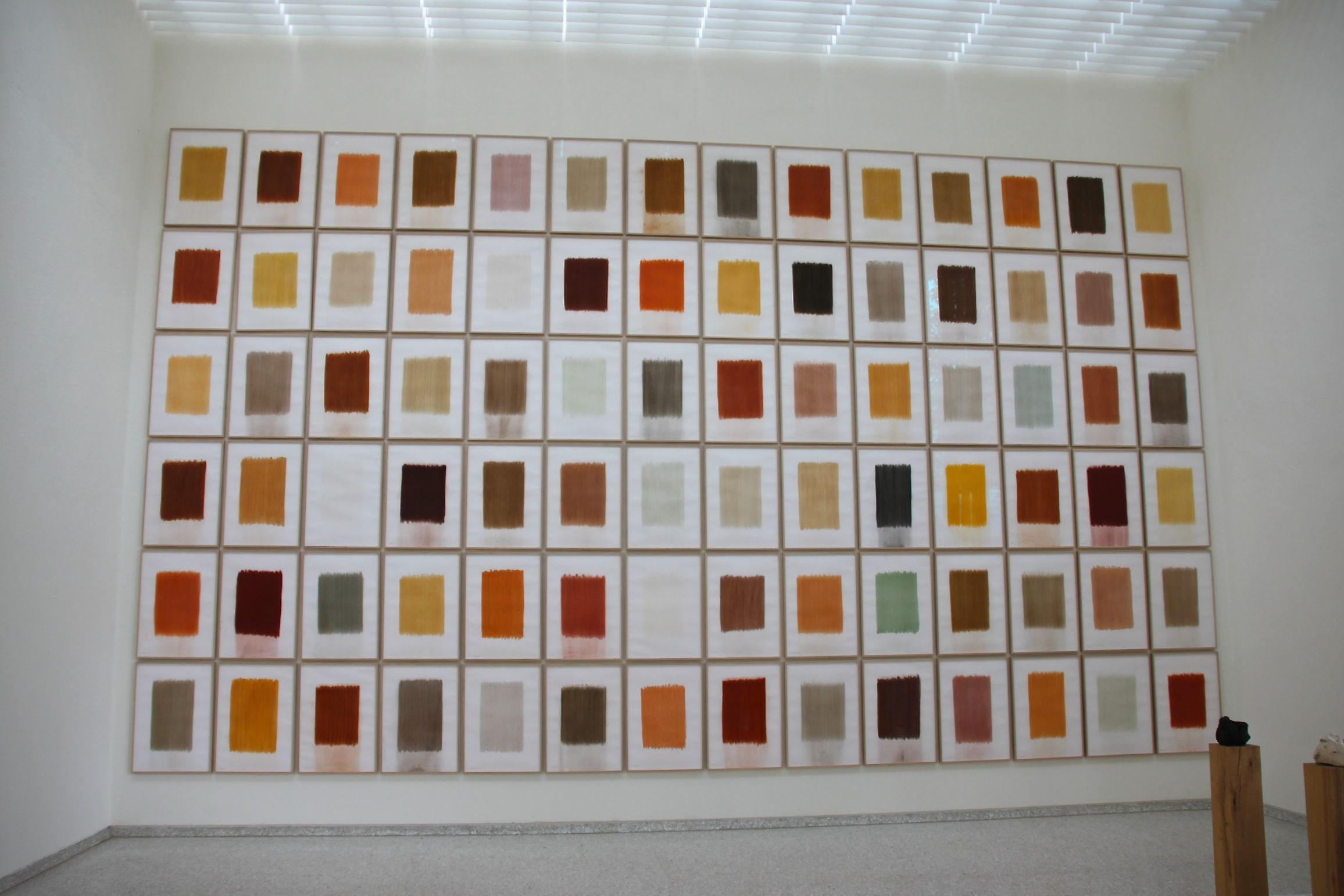 Who knew that soil could be so colourful? De Vries' beautiful earthy mosaic at the Venice Biennale