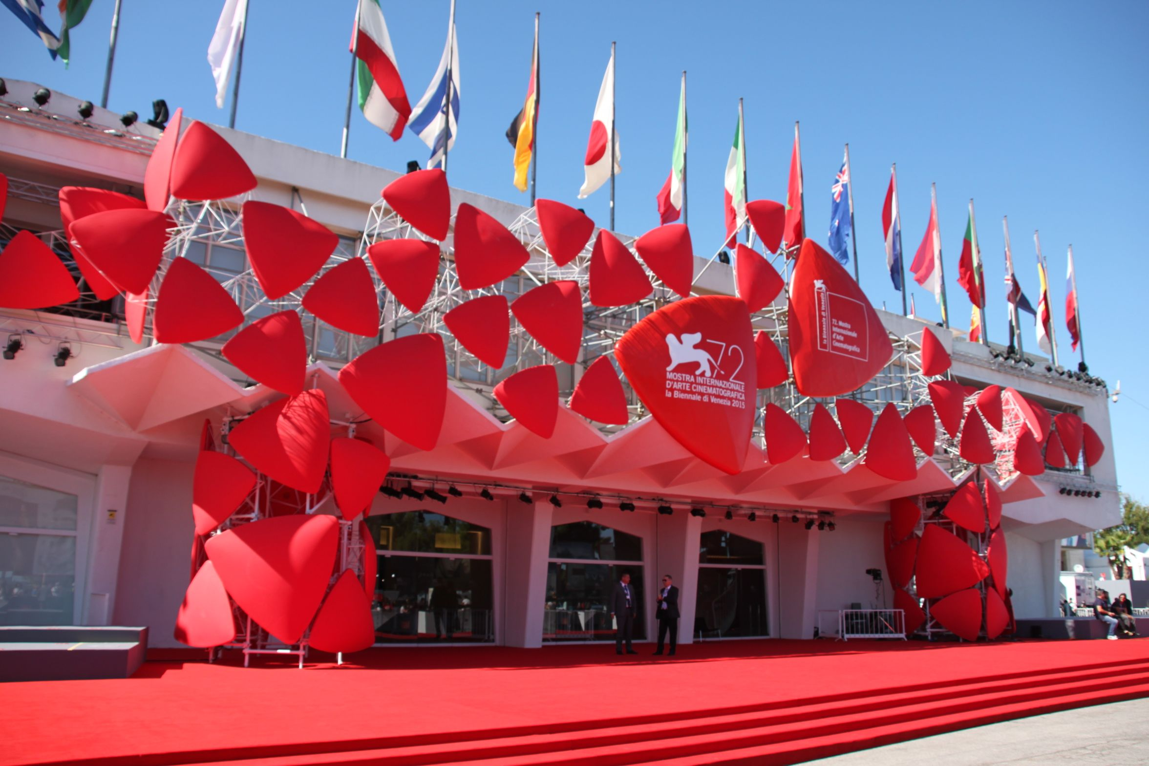 The red carpet at Venice Film Festival awaits!