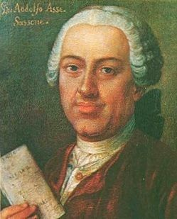 Friend of the young lovers Johann Adolf Hasse was one of the most illustrious baroque composers of the time