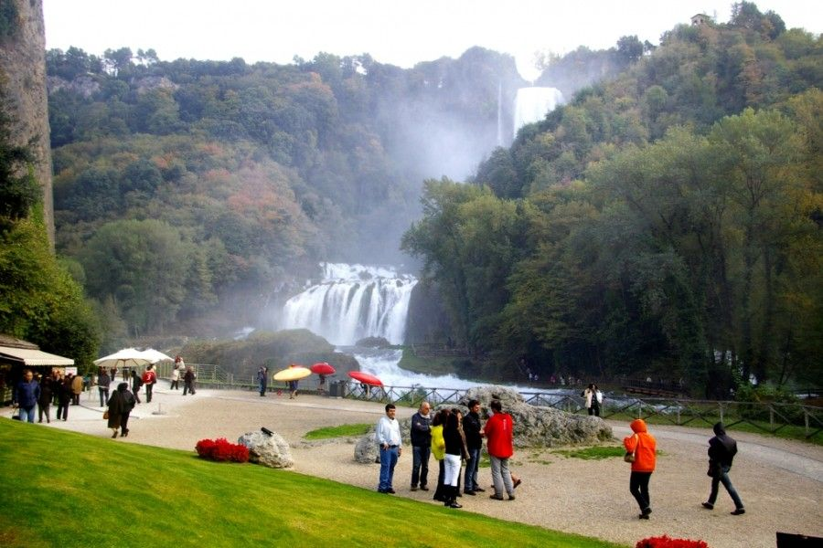 Umbria's spectacular Cascata delle Marmore waterfall