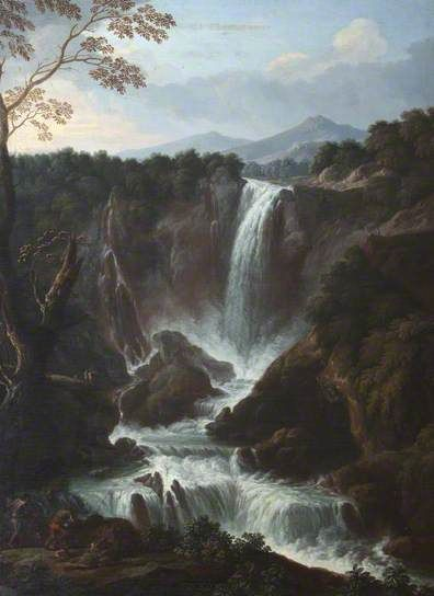 The Falls of the Velino near Terni, Known as the Cascata delle Marmore by Giovanni Battista Busiri. Photo copyright National Trust, Felbrigg Hall; Supplied by The Public Catalogue Foundation