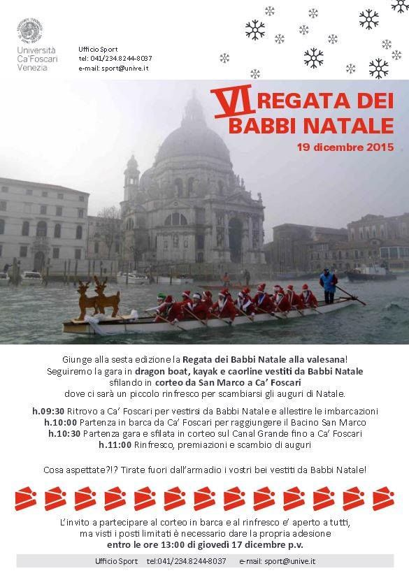 Poster for the 6th Regata dei Babbi Natale in Venice