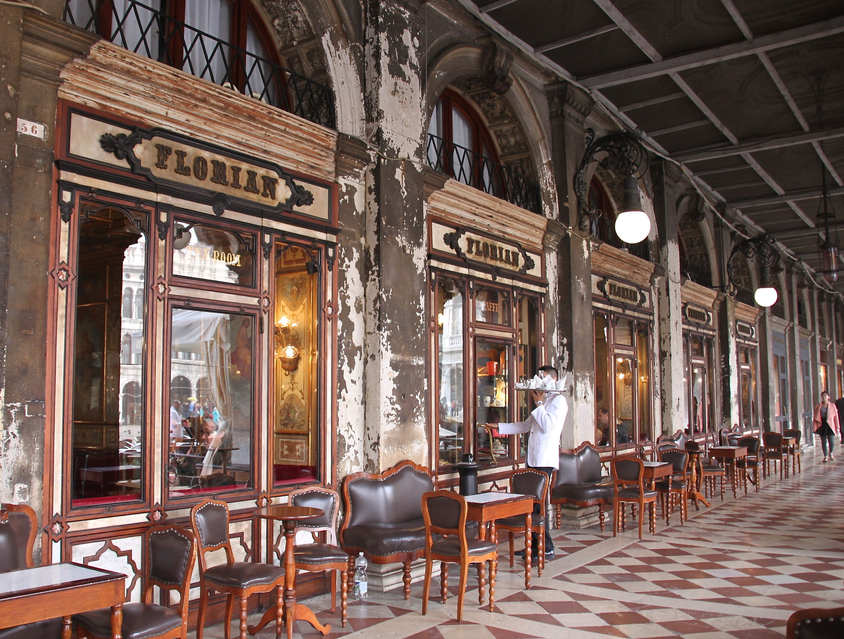 Caffe Florian, Venice's oldest coffee shop, has served hot chocolate for over 250 years
