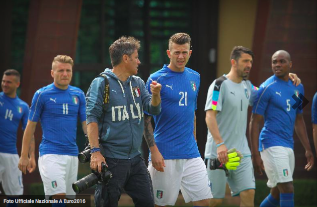 Official photocall for the Italian National Team. Copyright - FIGC